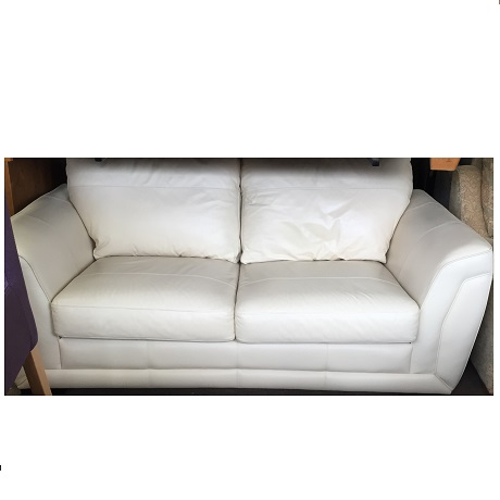large cream leather sofa ref 9467 watts the furnishers. Black Bedroom Furniture Sets. Home Design Ideas